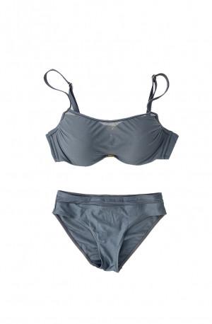 Dvoudílné plavky S1002M šedá - Self šedá