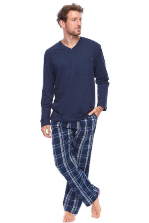 Pánské pyžamo Denver tmavě modré modrá
