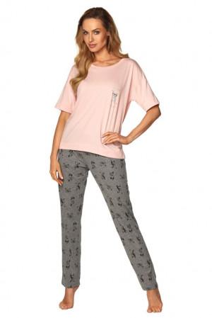 Dámské pyžamo Taylor růžové růžová
