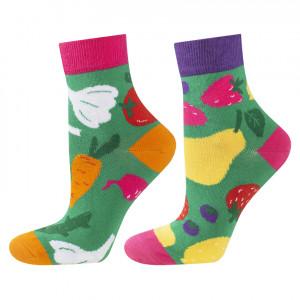 Nepárové ponožky SOXO GOOD STUFF - Ovoce, zelenina