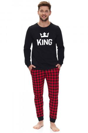 Pánské pyžamo Dn-nightwear PMB.9761 červená 2xl