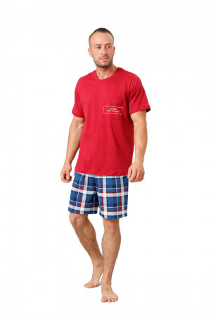 Pánské pyžamo 812 IKAR bordó