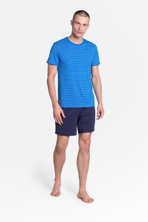 Pánské pyžamo LANE 38873 modrá-tmavě modrá