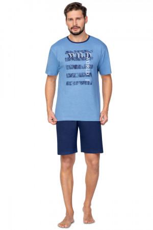 Pánské pyžamo 579 BIG modrá 2XL