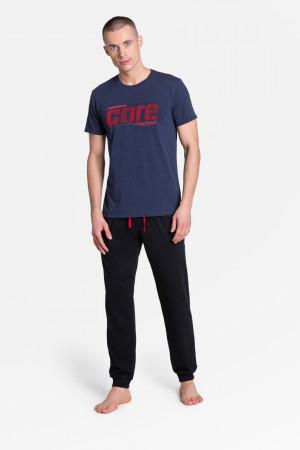 Pánské pyžamo ONWARD 38377 DENIM-CZARNY