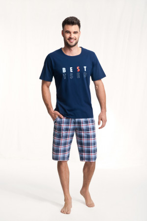 Pánské pyžamo 718 BIG tmavě modrá