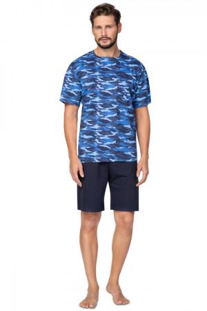 Pánské pyžamo 577 BIG modrá 2XL