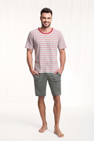 Pánské pyžamo 771 červeno-šedá