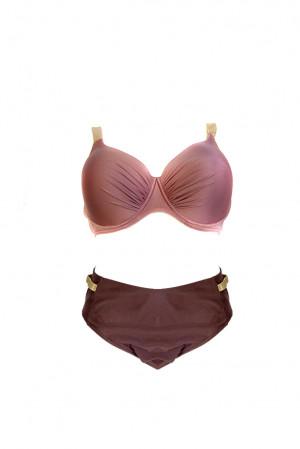 Dvoudílné plavky S940Z růžovofialová - Self růžovo-fialová