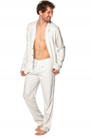 Pánské pyžamo SAM-PY-189 - Rossli ecru-šedá