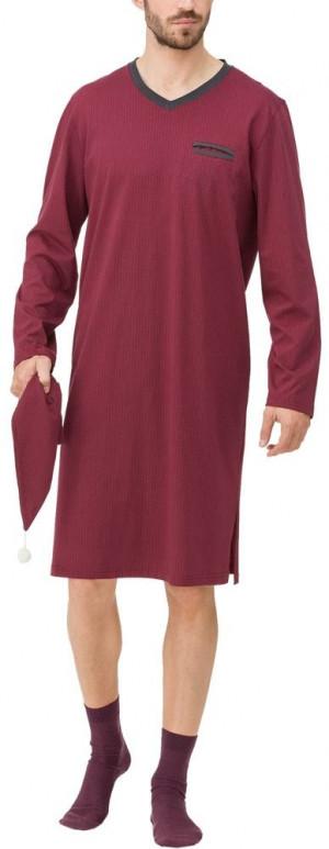 Pánská noční košile 11603-412 červená - Vamp červená