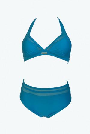 Dvoudílné plavky S1061 modrá - Self modrá