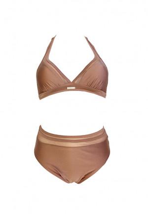 Dvoudílné plavky S1061 pudrová - Self pudrová