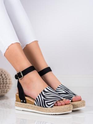 Trendy  sandály dámské se zvířecím motivem na klínku