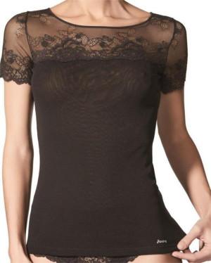 Dámské triko Camiseta Velvet Lace 072887 - Janira černá