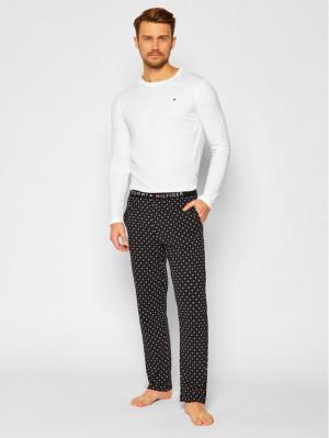 Pánské pyžamo UM0UM01961 0HB bílá-vzor - Tommy Hilfiger vícebarevná