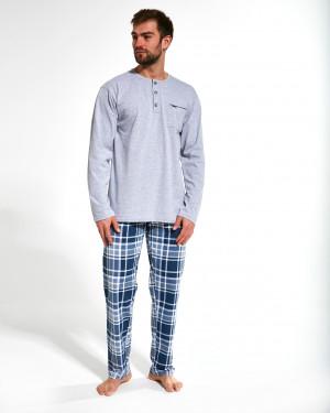Pánské pyžamo 125/169 Dave - Cornette šedá s modrou