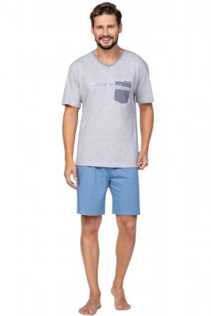Pánské pyžamo Regina 584 kr/r M-XL tmavá žíhaná
