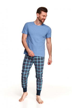Pánské pyžamo 2519 GRZEGORZ M-2XL Jaro 2021 modrá