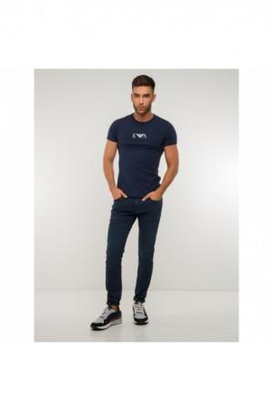 Pánské tričko 2pcs 111267 CC715 27435 tmavěmodrá - Emporio Armani tm.modrá