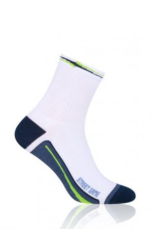 Ponožky pánské i dámské art.060 Sport - Steven bílá-jeans 38/40
