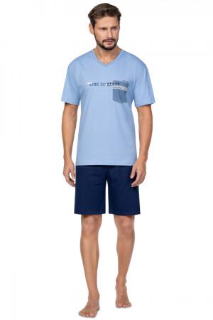 Pánské pyžamo 584 BIG modrá 2XL