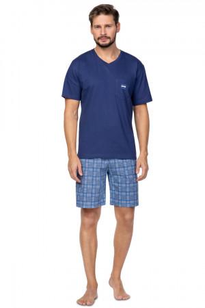 Pánské pyžamo 581  tmavě modrá