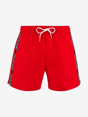 Plavky Calvin Klein Červená