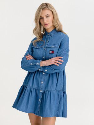 Chambray Šaty Tommy Jeans Modrá