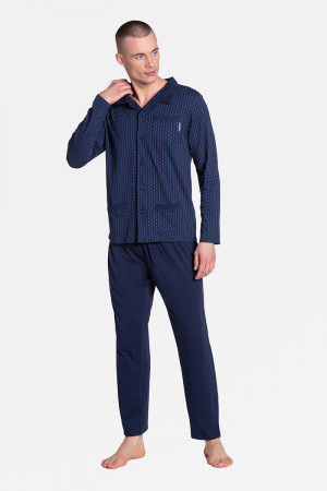 Piżama Męska Model Zander 38363-59X Navy - Henderson