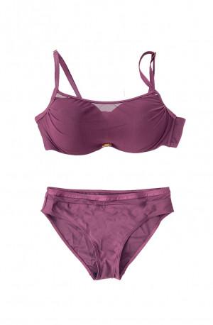 Dvoudílné plavky S1061 fialová - Self fialová