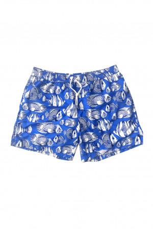 Pánské plavky šortky SM29 modrobílá - Self modro-bílá