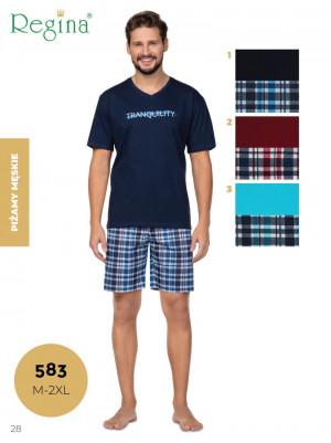 Pánské pyžamo 583 BIG tyrkysová 2XL