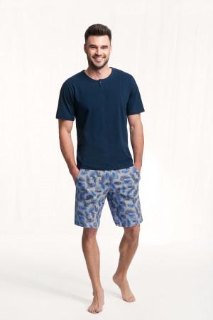 Pánské pyžamo 730 tmavě modrá