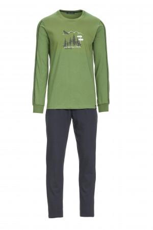 Pánské pyžamo 13676 - Vamp zeleno-černá