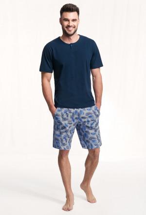 Pánské pyžamo Luna 730 kr/r M-2XL  tmavě modrá