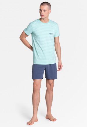 Pánské pyžamo Henderson 38875 Lobe kr/r M-2XL grey