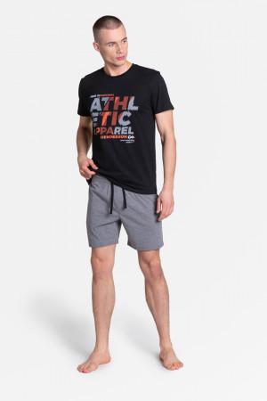 Pánské pyžamo LANG 38865 černá