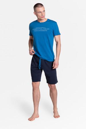 Pánské pyžamo Henderson 38880 Deal kr/r M-3XL modrá