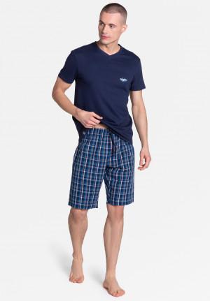 Pánské pyžamo Henderson 38884 Dream kr/r M-3XL navy