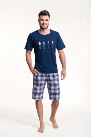 Pánské pyžamo 718 tmavě modrá