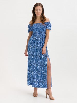 Leopard Print Šaty Tommy Jeans Modrá