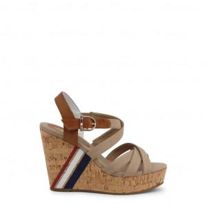 Dámské sandálky na klínku U.S. Polo Assn. AYLIN4092S0_CY1 brown EU