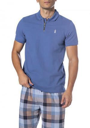 Pánské Polo Shirt 517018H - Jockey sv.modrá