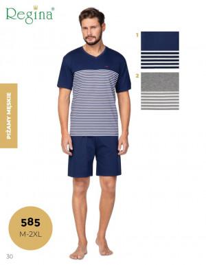 Pánské pyžamo 585  tmavě modrá