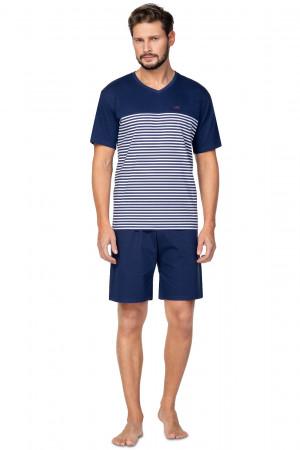 Pánské pyžamo Regina 585 kr/r 2XL  tmavě modrá