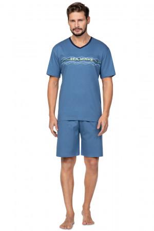 Pánské pyžamo Regina 586 kr/r M-XL tmavě modrá