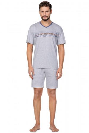 Pánské pyžamo Regina 586 kr/r 2XL  tmavě modrá
