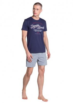 Pánské pyžamo Henderson 38868 L Tm. modrá