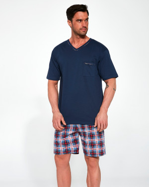Pánské pyžamo Cornette 329/113 Steve kr/r M-2XL  tmavě modrá